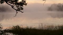 Foggy Sunrise on Lake Stock Footage