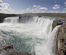Goðafoss waterfall, northern iceland, iceland, atlantic ocean Stock Photos