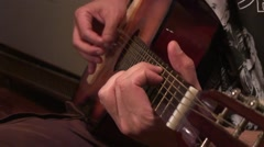 The guitarist plays beautifully Stock Footage