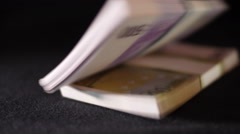 Paper Money. 70000 euro - stock footage