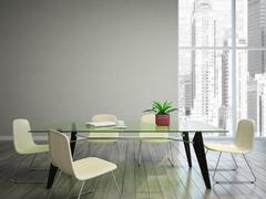 dining room wish tabel and chairs - stock illustration