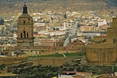 Stock Photo of fortress high over the guadix town, andalusia, guadix, spain