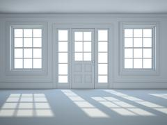 Stock Illustration of empty room with in white color