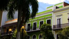 Puerto Rico Colonial Houses HD Stock Footage