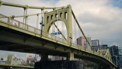 South Tenth Street Bridge, Pittsburgh Stock Footage