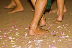 Feet of apsara - dance artists, cambodia, asia Stock Photos