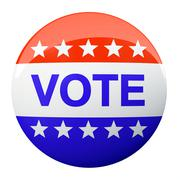 american vote button isolated on background - stock illustration