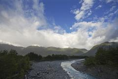 Landscape at the carretera austral, patagonia, chile, south america Stock Photos