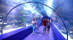 Tourists in the aquarium Antalya, Turkey 3 Stock Footage