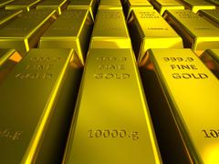 Stock Illustration of rows of gold bars illustration