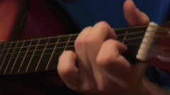 Amateur guitarist Stock Footage