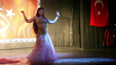 Belly dancing at the concert, Antalya, Turkey 1 Stock Footage