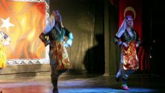 Concert of folk dances, Antalya, Turkey 12 Stock Footage