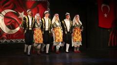 Concert of folk dances, Antalya, Turkey 9 Stock Footage