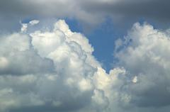 gathering storm clouds - stock photo