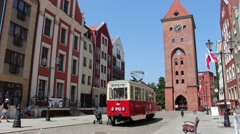 Elblag, charming town in northern Poland. The old town Stock Footage