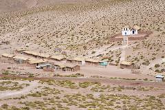 Small village with church in the atacama desert, on the road to el tatio geys Kuvituskuvat