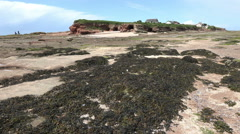 Tilt up, hilbre island on dee estuary, wirral, england Stock Footage