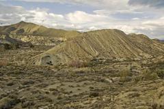 Desert landscape near granada, andalusia, spain, europe Kuvituskuvat