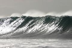Wave, oahu, hawaii, pacific ocean Stock Photos