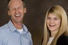 Father and daughter Stock Photos
