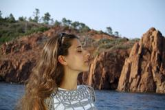 Stock Photo of young woman, théoule-sur-mer, france, europe