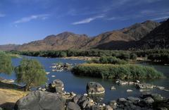 Oranje river, namibia Stock Photos
