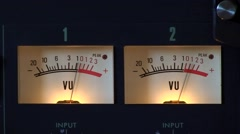 Audio Level Sound Meters VU meters  no2 loud Stock Footage