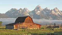 Moulton Barn in the Grand Teton, WY-Time lapse 1080 - stock footage