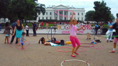 Bizarre Strange Anti-War Protest at White House in D.C. Stock Footage