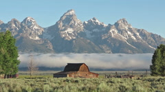 Moulton Barn in the Grand Teton, WY-Time lapse 1080 Stock Footage