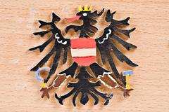 Fretwork, austrian federal eagle Stock Photos