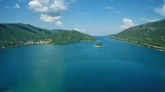 Aerial view of Mali Ston Bay Stock Footage