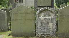 Wordsworth grave stone at grasmere, cumbria, england Stock Footage