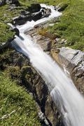 Mountain stream, mountain brook at the grossglockner high alpine road, nation Stock Photos