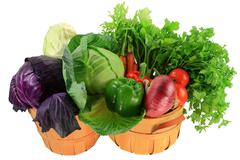 Ingredients for cooking cabbage stew, soups, salads in bushels Stock Photos