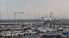 Marina in Gdynia, Poland Stock Footage
