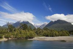 Landscape along the Carretera Austral, Patagonia, Chile, South America Stock Photos