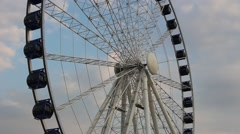 Observation wheel in Gdansk, Poland Stock Footage
