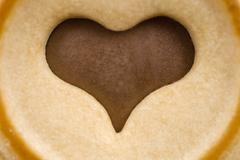 chocolade heart in a biscuit, cookie - stock photo
