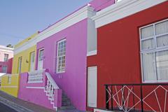 Colorful houses bo kaap malay quarter, cape town, south afrika Stock Photos