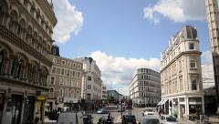 London Road Time-Lapse from bus point of view. Liverpool Street to Oxford Circus Stock Footage