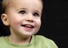 Little boy, two years Stock Photos