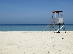 Empty beach on the peninsula chalkidiki halkidiki sithonia macedonia greece Stock Photos