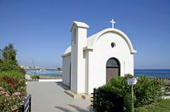 Wedding chapel, agia napa, beach, cyprus, europe Stock Photos