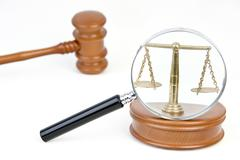 symbolic for judiciaries - stock photo