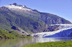 Wilderness scene in Alaska - stock photo
