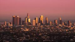 HD Downtown Los Angeles Sunset Timelapse Stock Footage