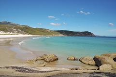 Beach scene in Victoria, Australia on sunny day - stock photo