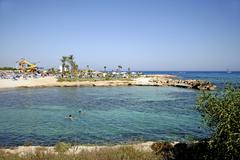 Agia napa, nissi beach, beach, cyprus, europe Stock Photos